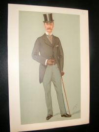 Vanity Fair Print 1895 Crown Prince of Denmark. Proof